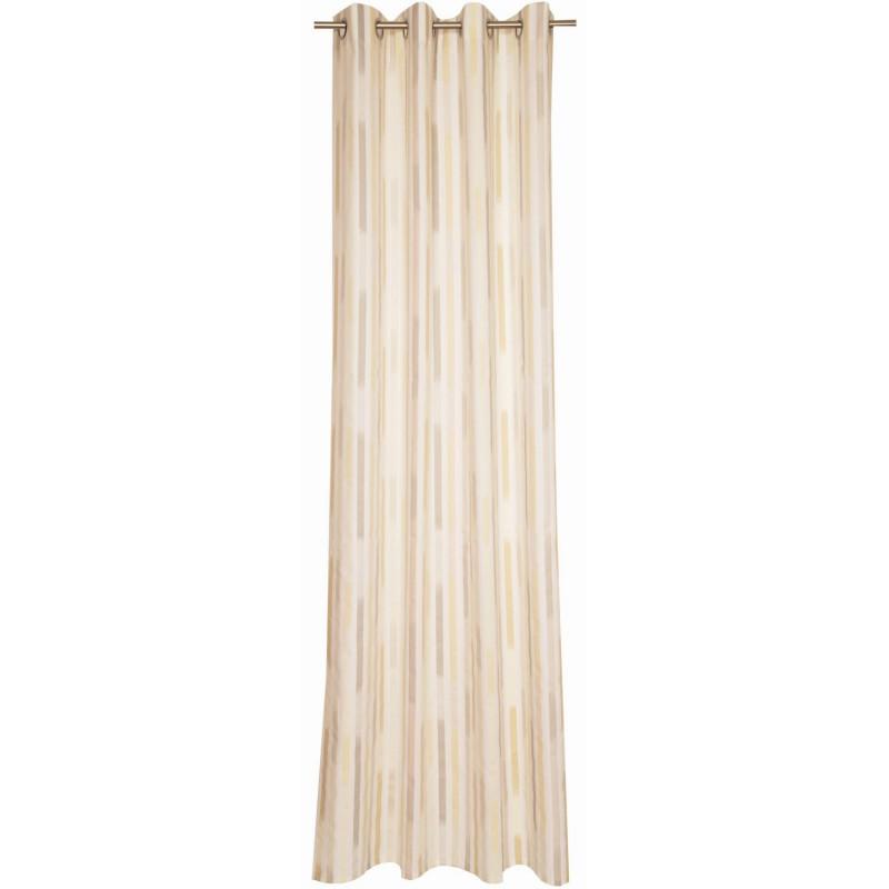 schoenerwohnen straps grau creme senschal 140x250cm 37 95 eur. Black Bedroom Furniture Sets. Home Design Ideas