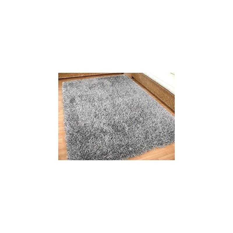 teppich hochflor sch ner wohnen feeling silber 170 x 240 cm. Black Bedroom Furniture Sets. Home Design Ideas