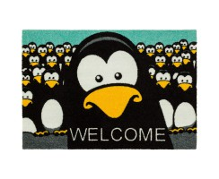 "Astra Fussmatte ""Pinguin Welcome"" 50x78cm"